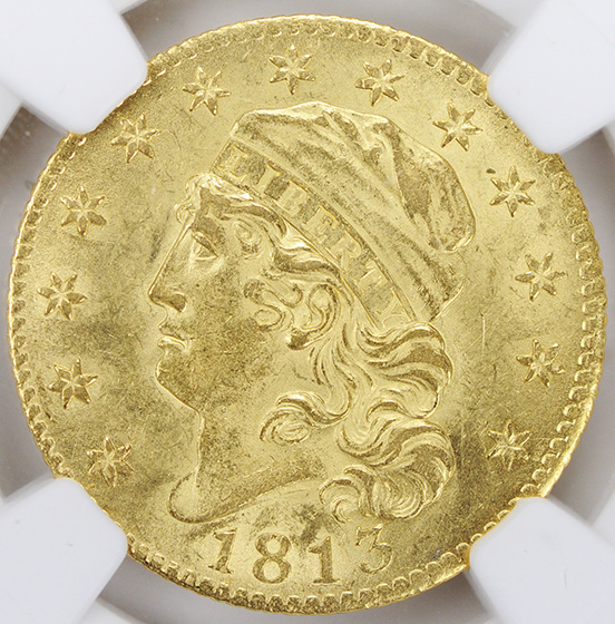 Picture of 1813 CAPPED BUST $5 MS61