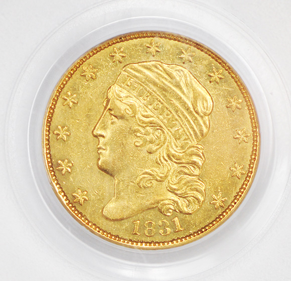 Picture of 1831 CAPPED BUST $2.5 AU58