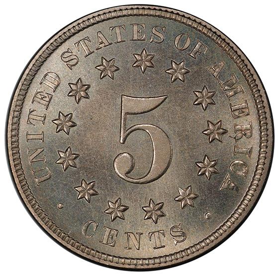 Picture of 1874 SHIELD 5C PR67+