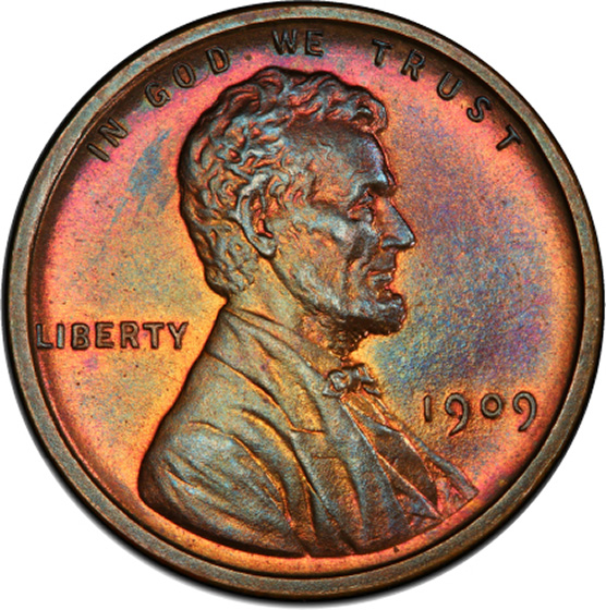 Picture of 1909 VDB LINCOLN MATTE 1C, VDB PR66 Red Brown