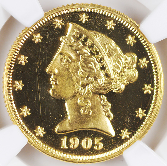 Picture of 1905 LIBERTY $5 PR65 Deep Cameo