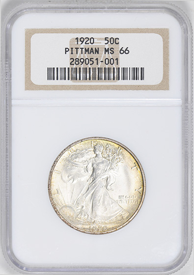 Picture of 1920 WALKING LIBERTY 50C MS66
