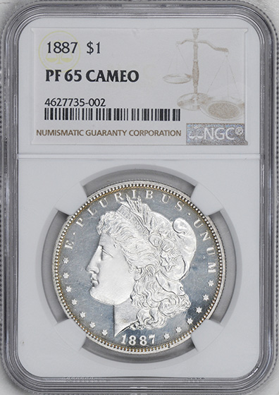 Picture of 1887 MORGAN S$1 PR65 Cameo