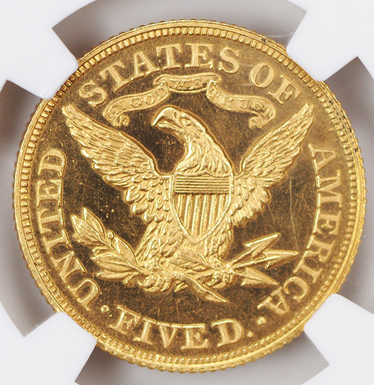 Picture of 1876 LIBERTY $5 PR65 Cameo