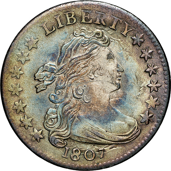 Picture of 1807 DRAPED BUST 10C MS64