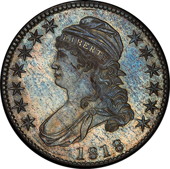 Picture of 1818 CAPPED BUST 50C PR64+