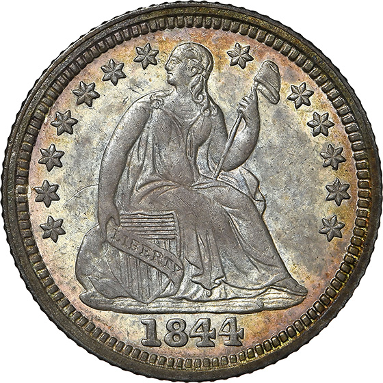 Picture of 1844-O LIBERTY SEATED H10C MS64