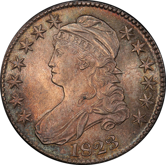 Picture of 1823 CAPPED BUST 50C MS65