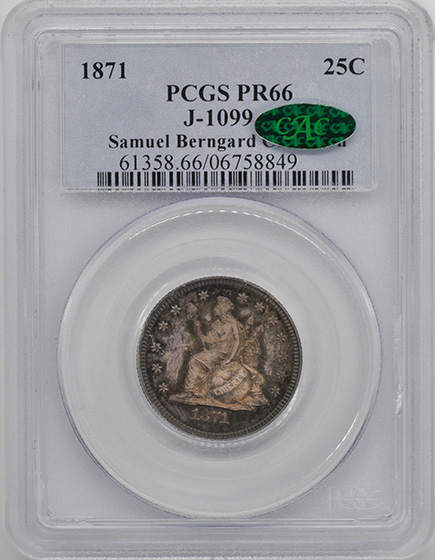 Picture of 1871 25C J-1099 PR66