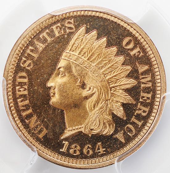 Picture of 1864 INDIAN COP NIC 1C, COPPER NICKEL PR67