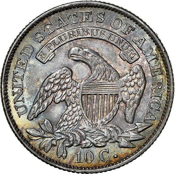 Picture of 1831 CAPPED BUST 10C MS64