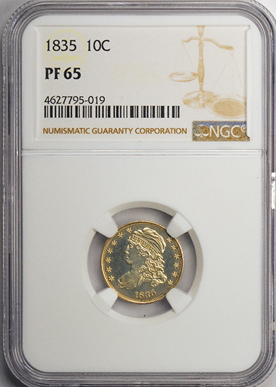 Picture of 1835 CAPPED BUST 10C PR65