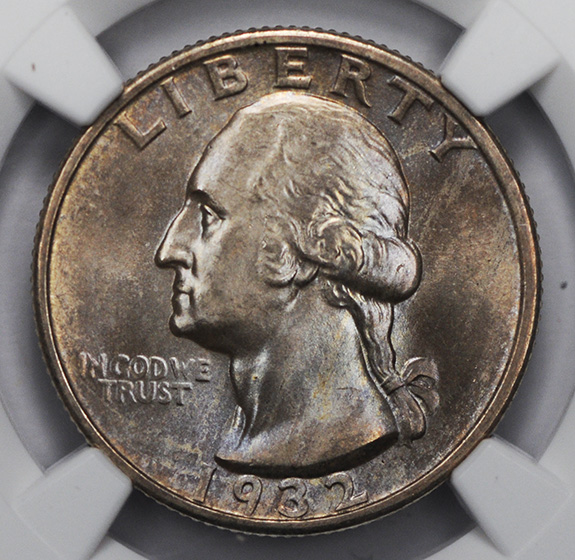 Picture of 1932-S WASHINGTON 25C MS66
