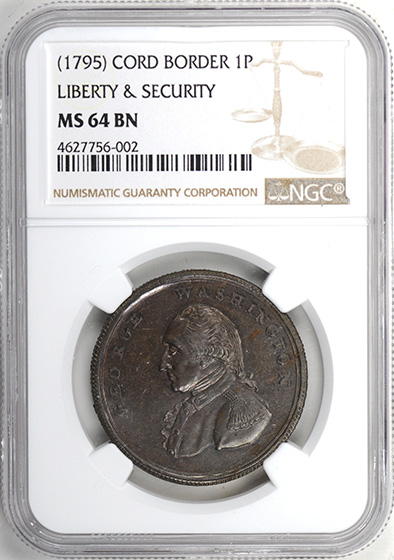 Picture of WASHINGTON L&S CORDED RIM PENNY MS64 Brown