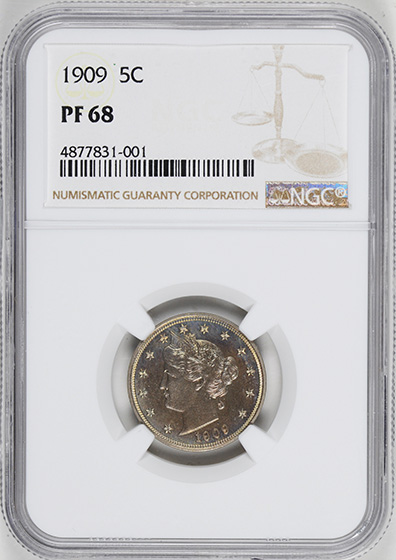 Picture of 1909 LIBERTY 5C PR68