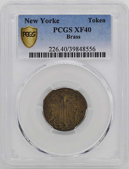 Picture of NEW YORKE BRASS TOKEN XF40