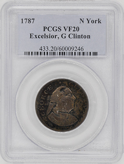 Picture of 1787 EXCELSIOR, G CLINTON N YORK VF20 Brown