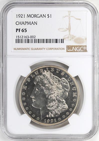 Picture of 1921 MORGAN S$1, CHAPMAN PR65