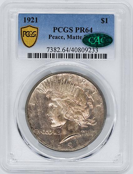 Picture of 1921 PEACE $1, PEACE, MATTE FINISH PR64