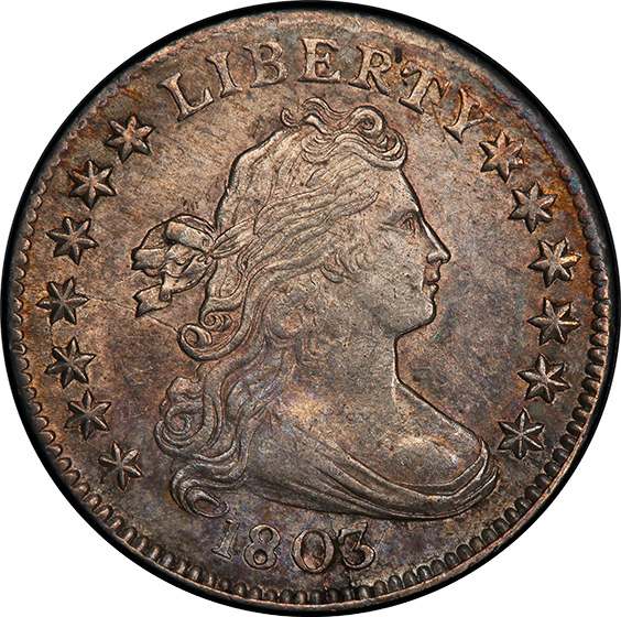Picture of 1803 DRAPED BUST 10C MS61