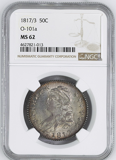 Picture of 1817/3 CAPPED BUST 50C MS62
