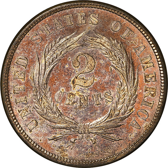 Picture of 1873 2C, CLOSED 3 PR64+ Cameo
