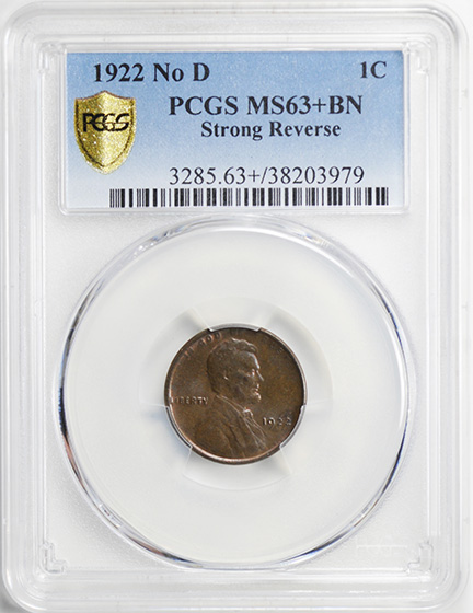 Picture of 1922 LINCOLN BRONZE 1C, STRONG REVERSE MS63+ Brown