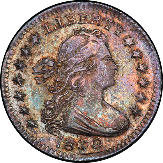 Picture of 1800 DRAPED BUST H10C MS63
