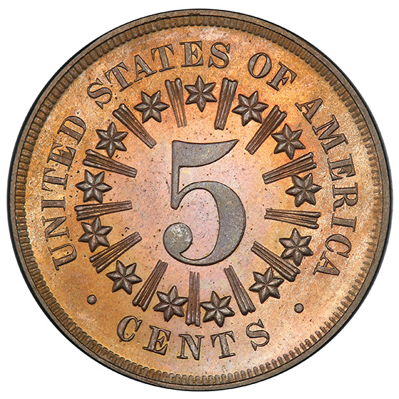Picture of 1867 SHIELD 5C, RAYS PR65