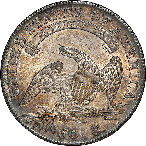 Picture of 1808/7 CAPPED BUST 50C MS65