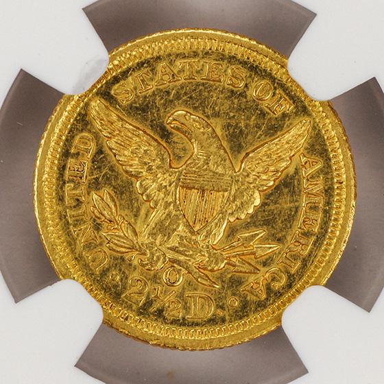 Picture of 1852-O LIBERTY HEAD $2.5 AU58