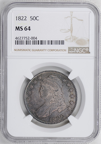 Picture of 1822 CAPPED BUST 50C MS64