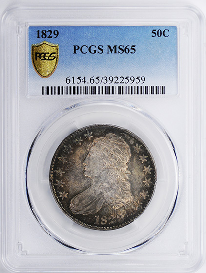 Picture of 1829 CAPPED BUST 50C MS65