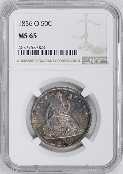 Picture of 1856-O LIBERTY SEATED 50C, NO MOTTO MS65
