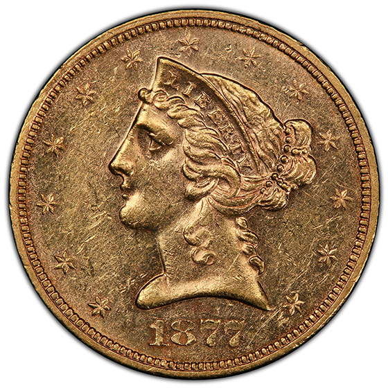 Picture of 1877-S LIBERTY $5 MS60