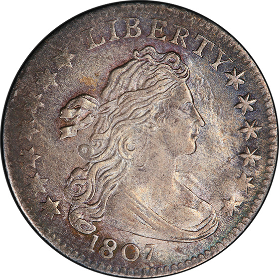 Picture of 1807 DRAPED BUST 10C MS63+