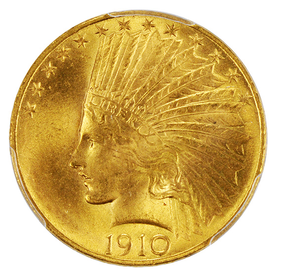 Picture of 1910 INDIAN $10 MS65