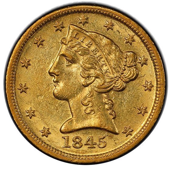 Picture of 1845-D LIBERTY $5 MS60