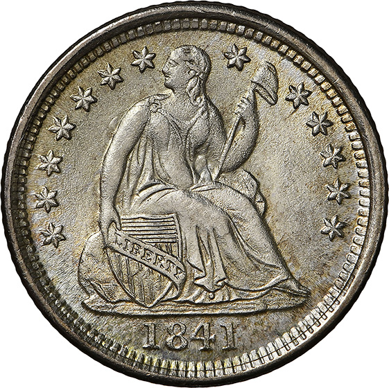 Picture of 1841-O LIBERTY SEATED H10C MS68