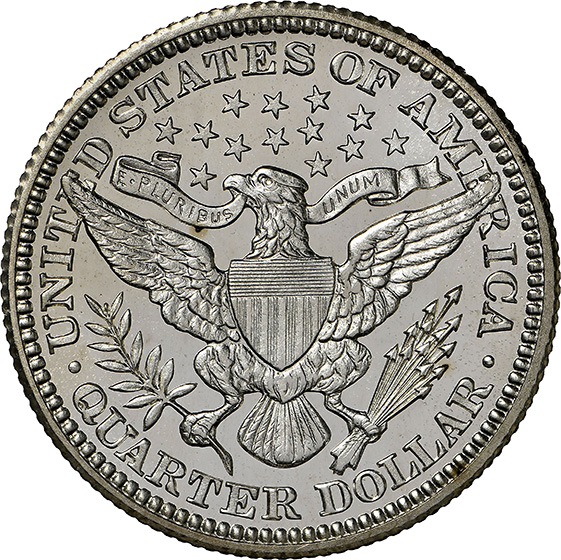 Picture of 1910 BARBER 25C PR68+ Cameo