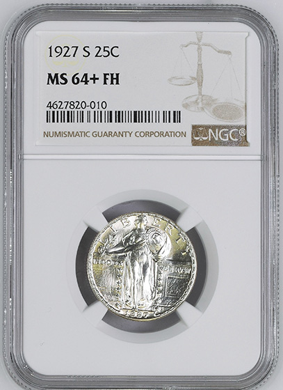 Picture of 1927-S STANDING LIBERTY 25C MS64+ Full Head