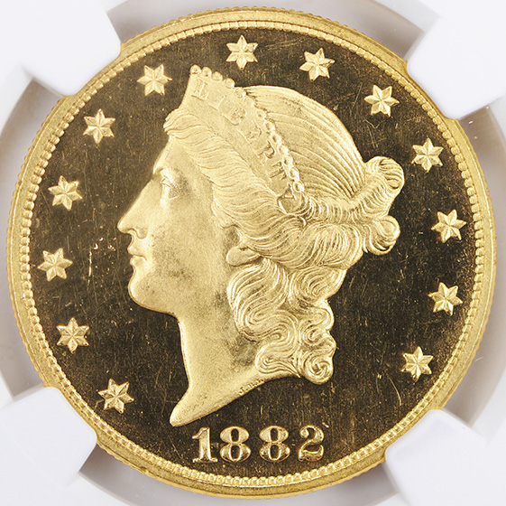 Picture of 1882 LIBERTY HEAD $20 PR65+ Deep Cameo