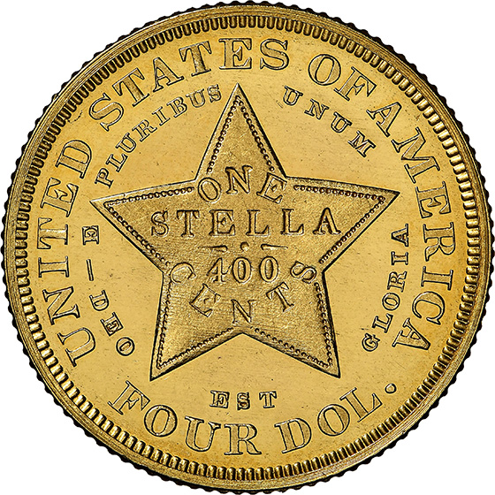 Picture of 1879 $4 STELLA, FLOWING HAIR PR66 Cameo