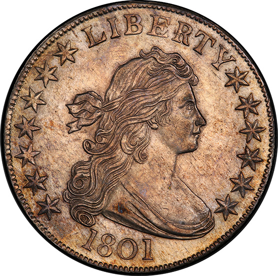 Picture of 1801 DRAPED BUST 50C MS58+