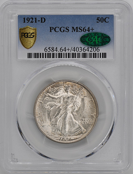 Picture of 1921-D WALKING LIBERTY 50C MS64+