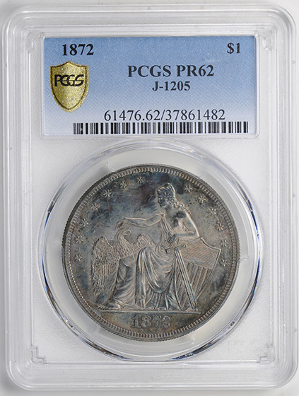 Picture of 1872 S$1 J-1205 PR62