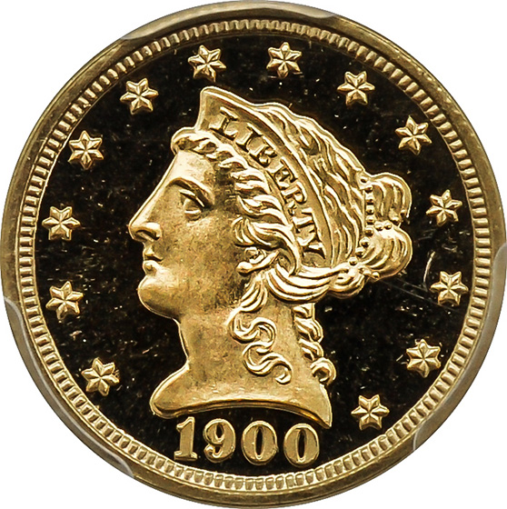 Picture of 1900 LIBERTY HEAD $2.5 PR68+ Deep Cameo