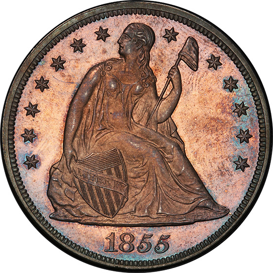 Picture of 1855 LIBERTY SEATED S$1, NO MOTTO PR66 Cameo