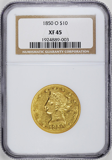 Picture of 1850-O LIBERTY HEAD $10 XF45