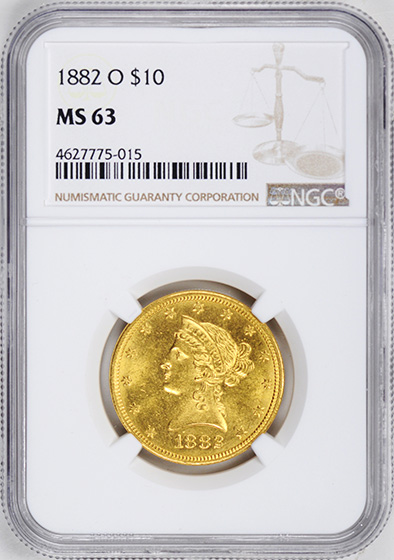 Picture of 1882-O LIBERTY HEAD $10 MS63